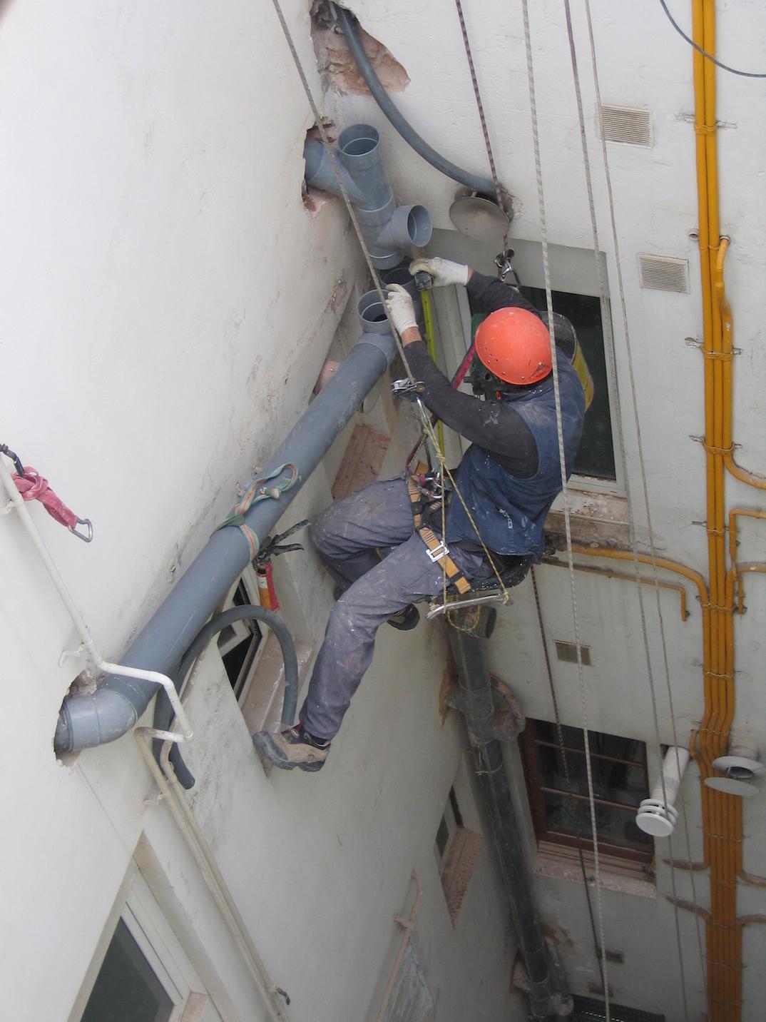 Trabajos verticales tejado